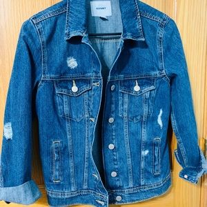 Distress Denim Jacket
